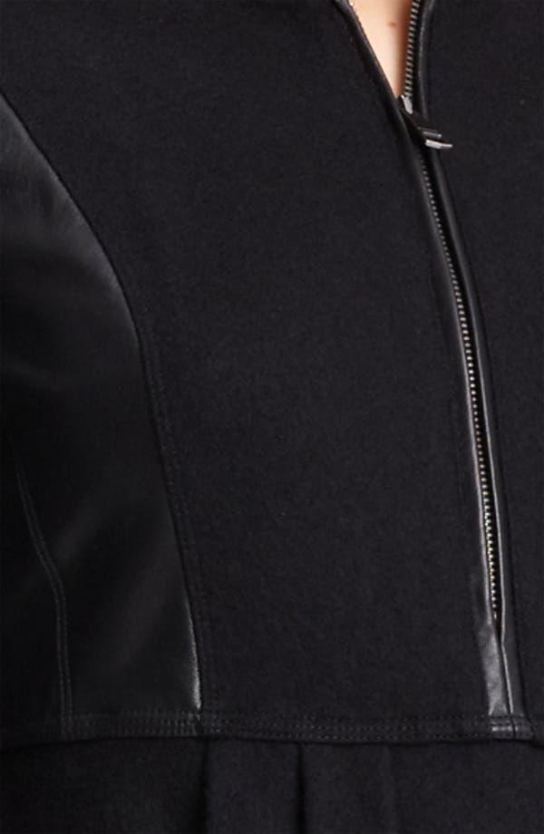 Alternate Image 3  - Burberry Brit Leather Sleeve Dress