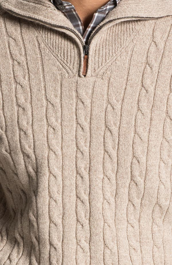 Alternate Image 3  - Lora Gi Half Zip Wool & Cashmere Sweater