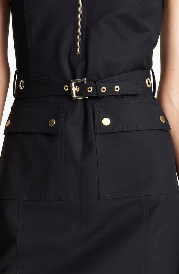 Alternate Image 3  - Michael Kors Belted Broadcloth Dress