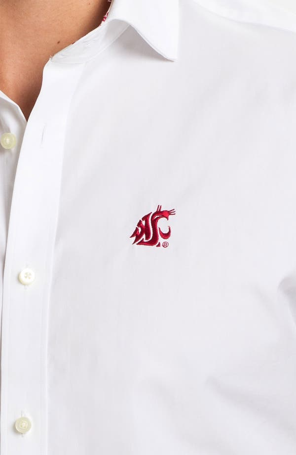 Alternate Image 3  - Thomas Dean 'Washington State University' Traditional Fit Sport Shirt