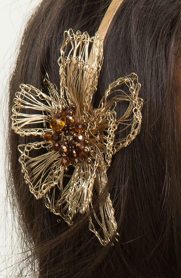 Alternate Image 2  - Tasha Woven Wire Flower Headband