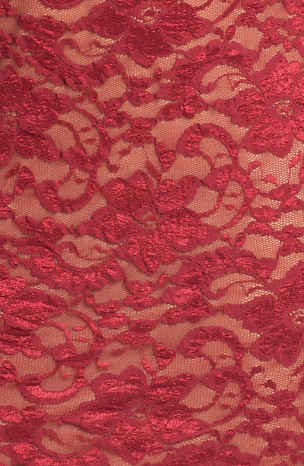 Lace Overlay Dress,                             Alternate thumbnail 3, color,                             Red