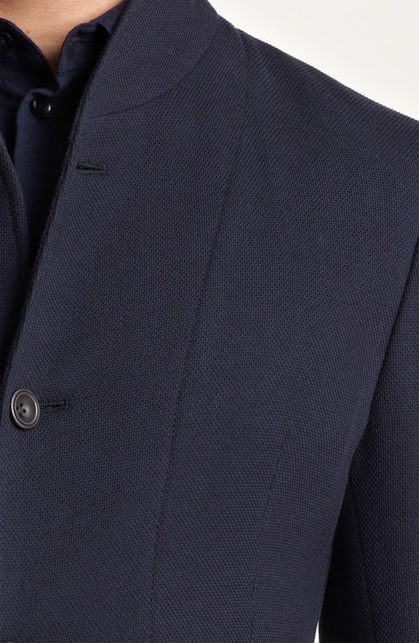 Alternate Image 3  - Armani Collezioni Piqué Jersey Jacket
