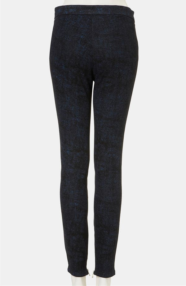 Alternate Image 2  - Topshop Sketch Print Skinny Pants