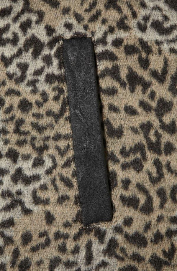 Alternate Image 3  - Topshop 'Karin' Faux Leopard Fur Coat