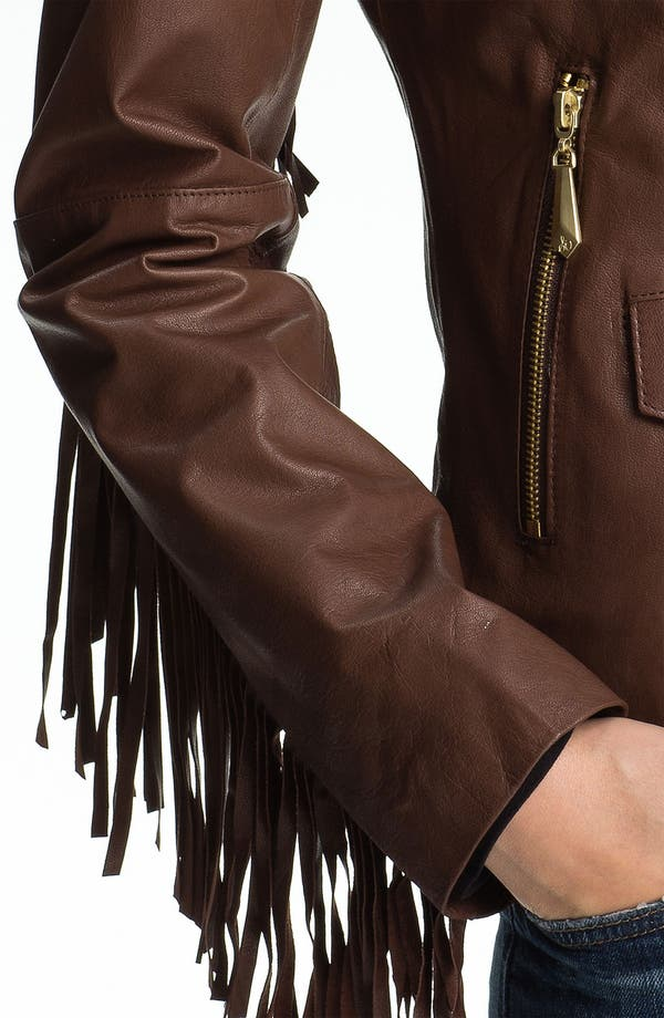 Alternate Image 3  - Sam Edelman Fringed Asymmetrical Leather Jacket