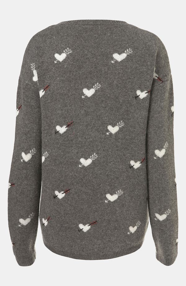 Alternate Image 2  - Topshop 'Hearts & Arrows' Sweater
