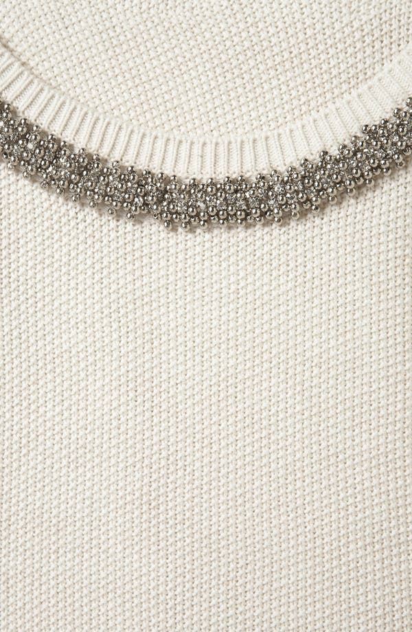 Alternate Image 3  - Topshop Embellished Collar Sweater