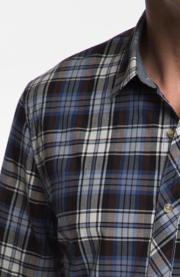 Alternate Image 3  - 1901 Plaid Cotton Poplin Shirt