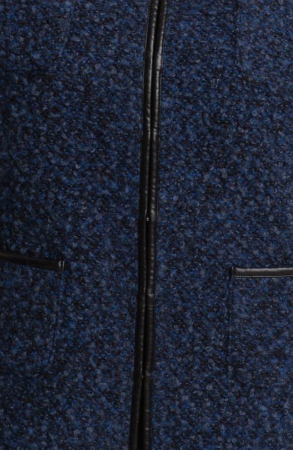 Alternate Image 3  - Sejour Faux Leather Trim Bouclé Jacket (Plus)