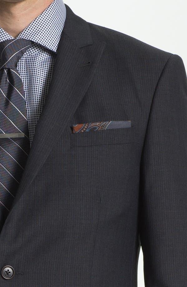Alternate Image 6  - John Varvatos Star USA 'Bowery' Trim Fit Stripe Suit