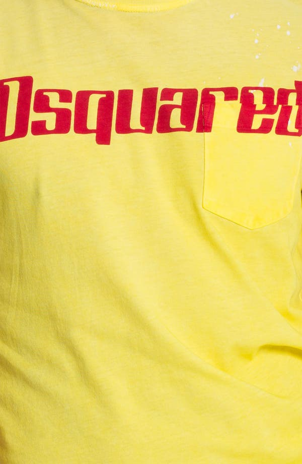 Alternate Image 3  - Dsquared2 Logo Print Pocket T-Shirt