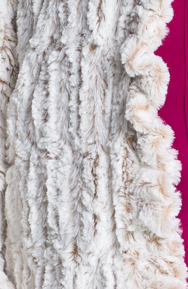 Alternate Image 3  - Damselle Ruffled Faux Fur Jacket (Plus)