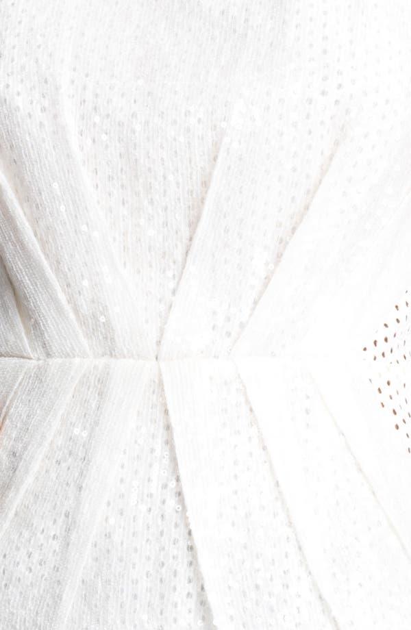 Alternate Image 3  - Moschino Cheap & Chic Sequin & Eyelet Peplum Top