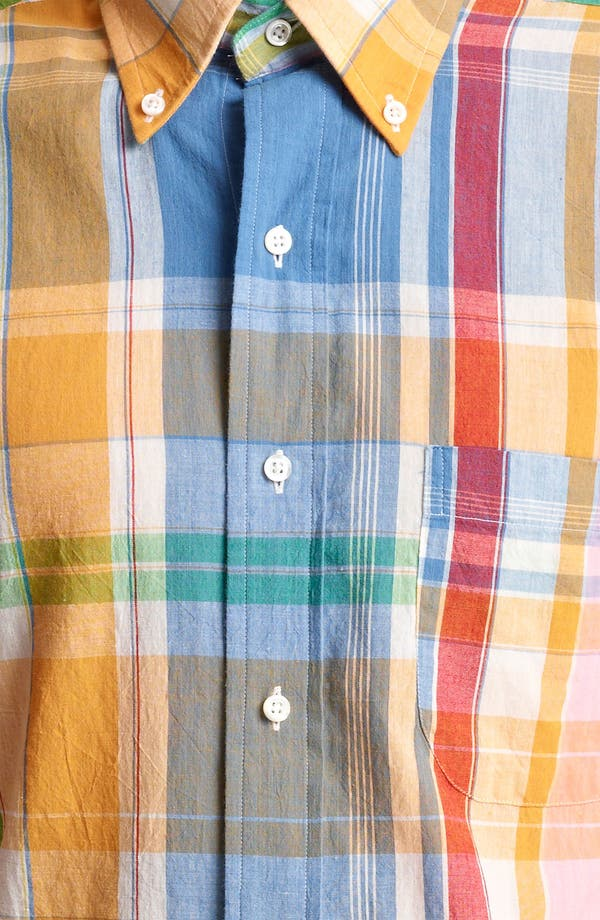 Alternate Image 4  - Thom Browne Multicolor Madras Plaid Cotton Shirt