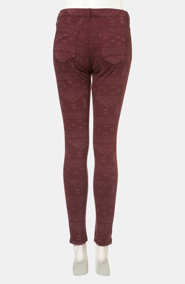 Alternate Image 2  - Topshop Moto 'Leigh' Andean Print Skinny Jeans