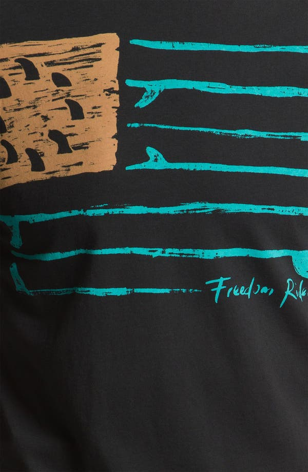 Alternate Image 3  - Iron & Resin 'Freedom Flag' Screenprint T-Shirt