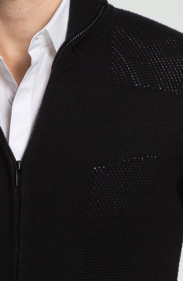 Alternate Image 3  - HUGO 'Singapur' Wool Blend Zip Cardigan