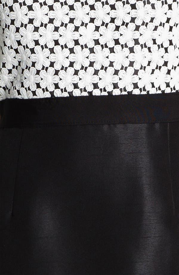Alternate Image 3  - Taylor Dresses Sleeveless Lace & Shantung Sheath Dress