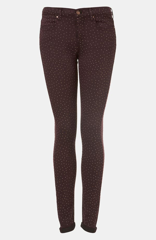 Main Image - Topshop Moto 'Night Sky' Studded Skinny Jeans