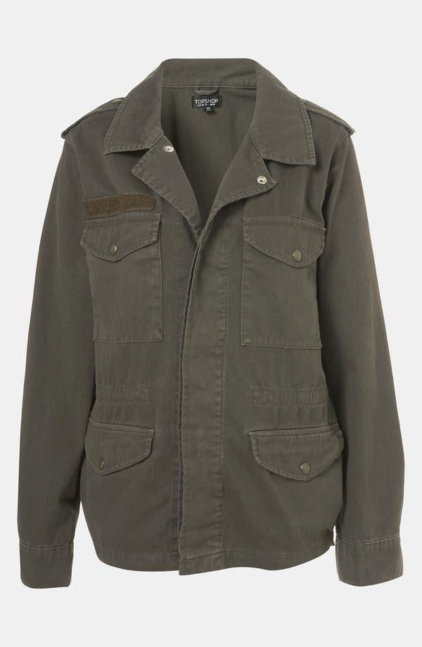 Alternate Image 1 Selected - Topshop Military Jacket