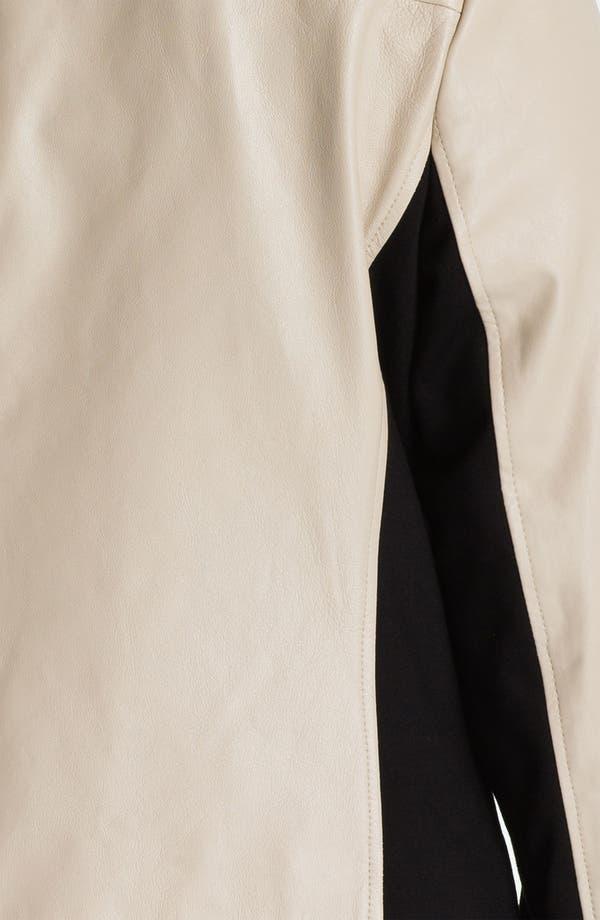 Alternate Image 3  - DKNYC Knit Inset Leather Jacket (Plus)