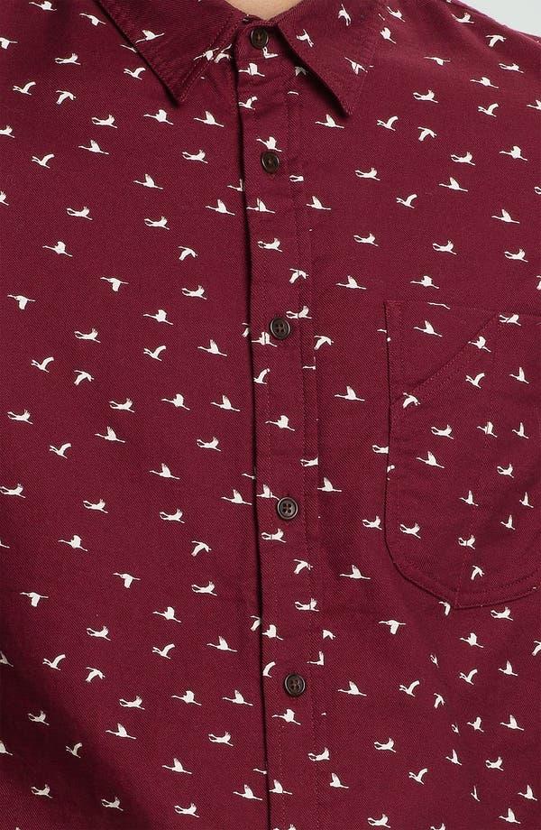 Alternate Image 3  - Topman Crane Print Cotton Twill Shirt