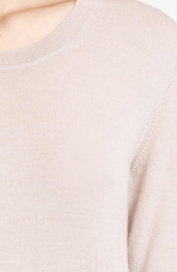 Alternate Image 3  - Burberry Brit Check Cuff Merino Sweater