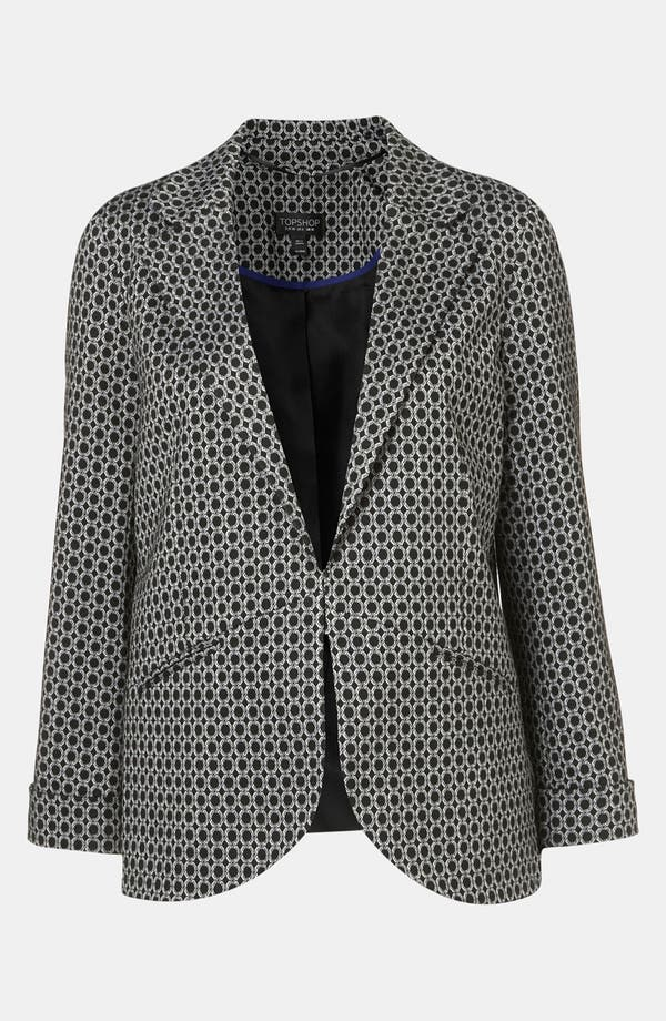 Alternate Image 1 Selected - Topshop Geometric Jacquard Blazer
