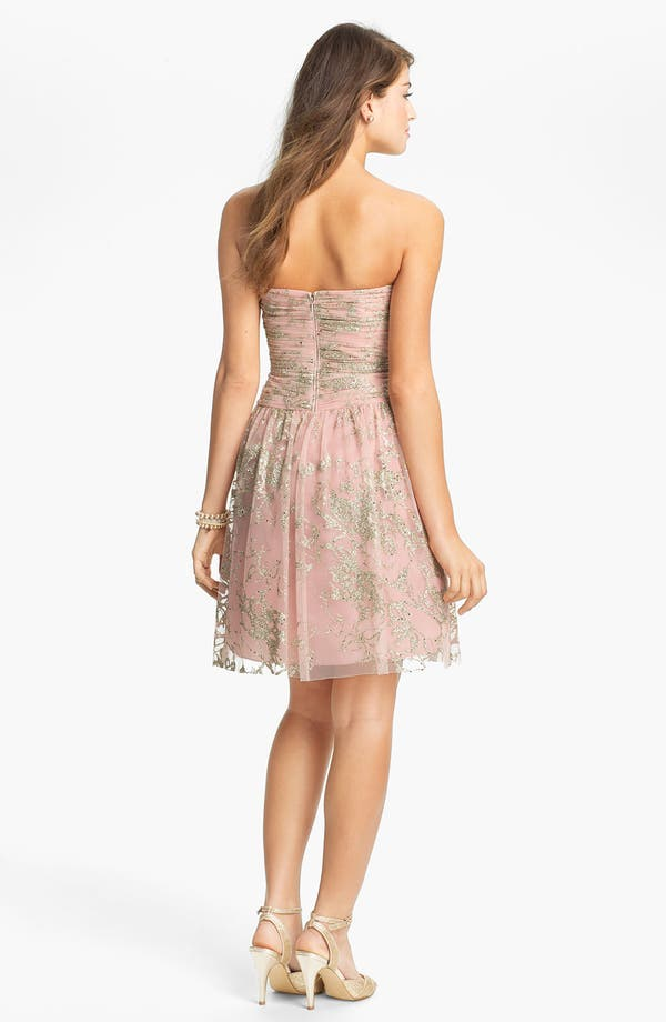 Alternate Image 2  - Hailey by Adrianna Papell Glitter Tulle Fit & Flare Dress (Online Only)