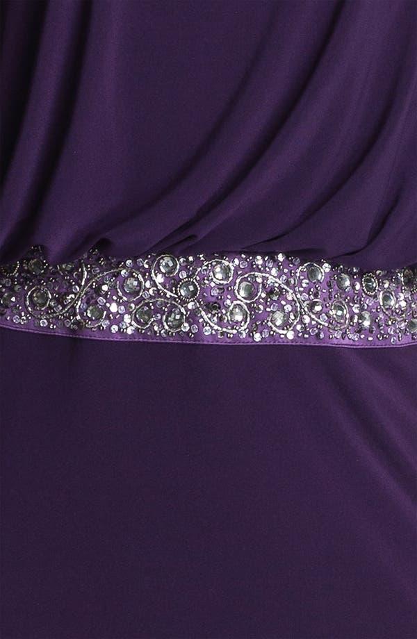 Alternate Image 3  - JS Boutique Back Keyhole Embellished Blouson Jersey Gown