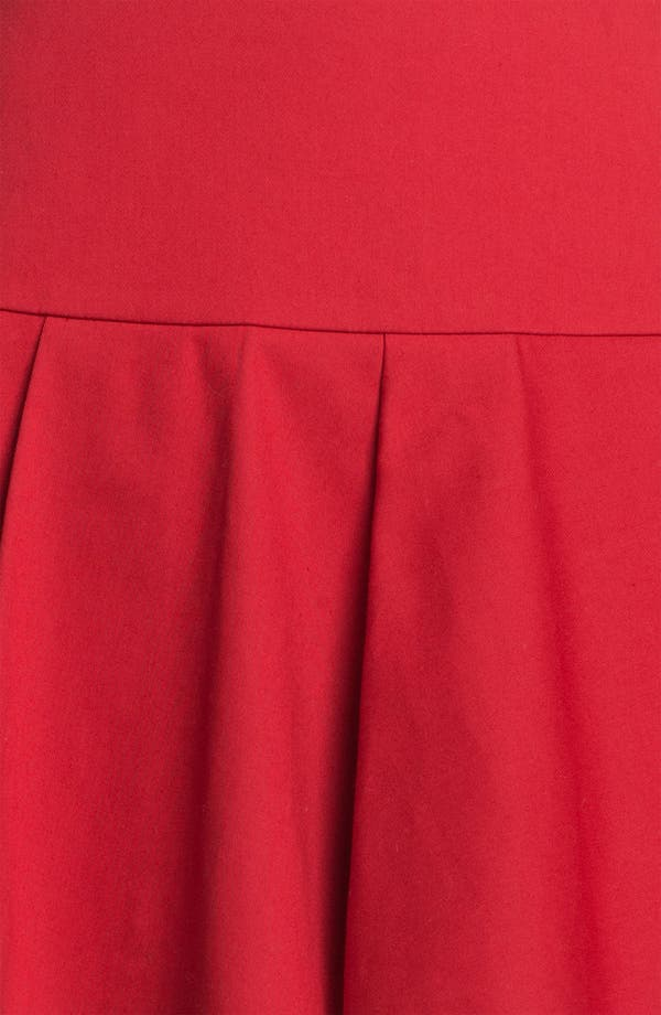 Alternate Image 3  - RED Valentino Pleated Stretch Gabardine Skirt
