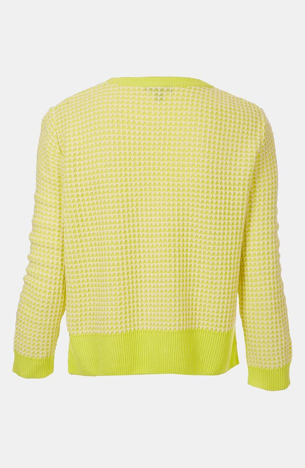 Alternate Image 2  - Topshop Neon Crop Sweater