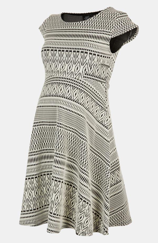 Alternate Image 1 Selected - Topshop Aztec Print Jacquard Maternity Dress