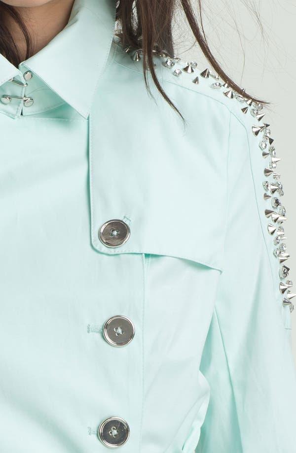 Alternate Image 3  - Sam Edelman Embellished Shoulder Trench Coat (Online Only)