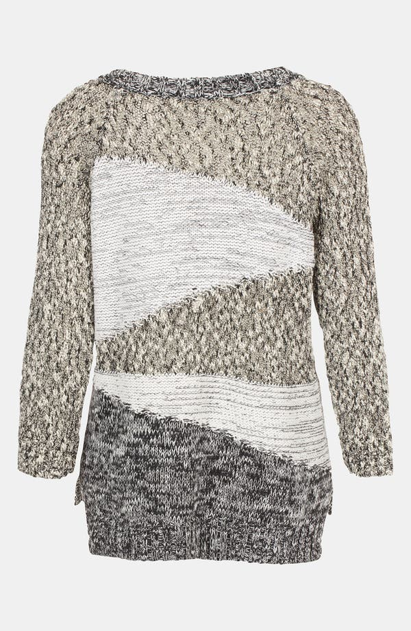 Alternate Image 2  - Topshop Mixed Yarn Insert Sweater