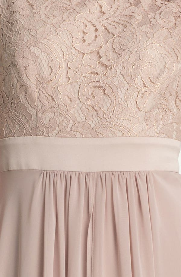 Alternate Image 3  - Eliza J Sleeveless Lace & Chiffon Gown