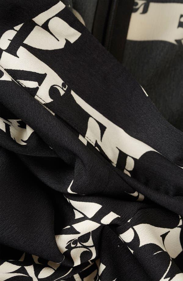 Alternate Image 3  - Topshop 'ABC' Print Center Slit Skirt