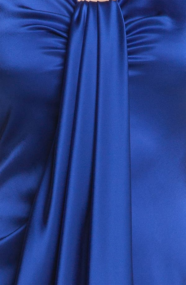 Alternate Image 3  - St. John Collection Draped Liquid Satin Gown