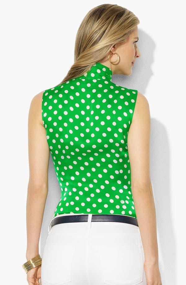 Alternate Image 2  - Lauren Ralph Lauren Tie Neck Silk Blouse (Petite) (Online Only)