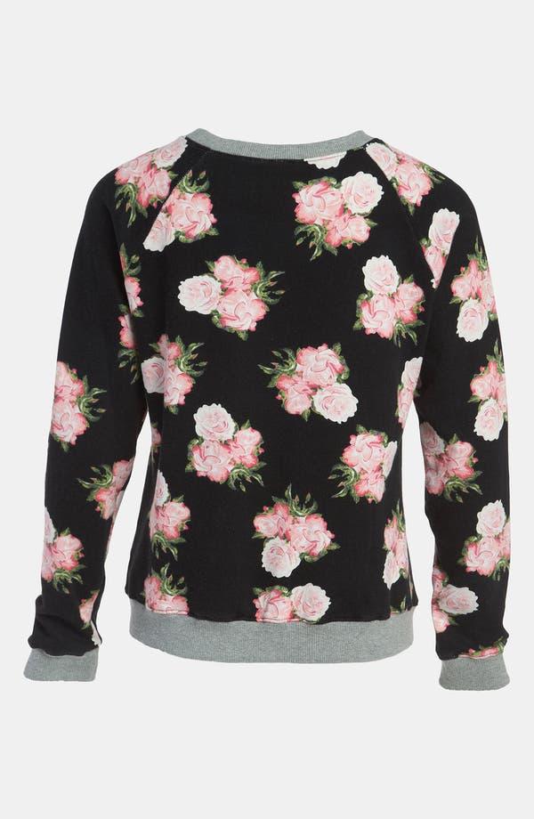 Alternate Image 2  - Mural Floral Sweatshirt