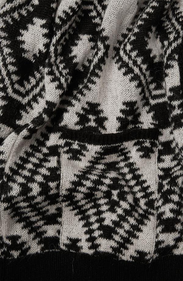 Alternate Image 3  - Topshop Aztec Print Knit Cardigan
