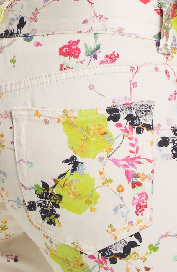 Alternate Image 3  - Ted Baker London 'Summer Bloom' Print Skinny Stretch Crop Jeans (Cream)
