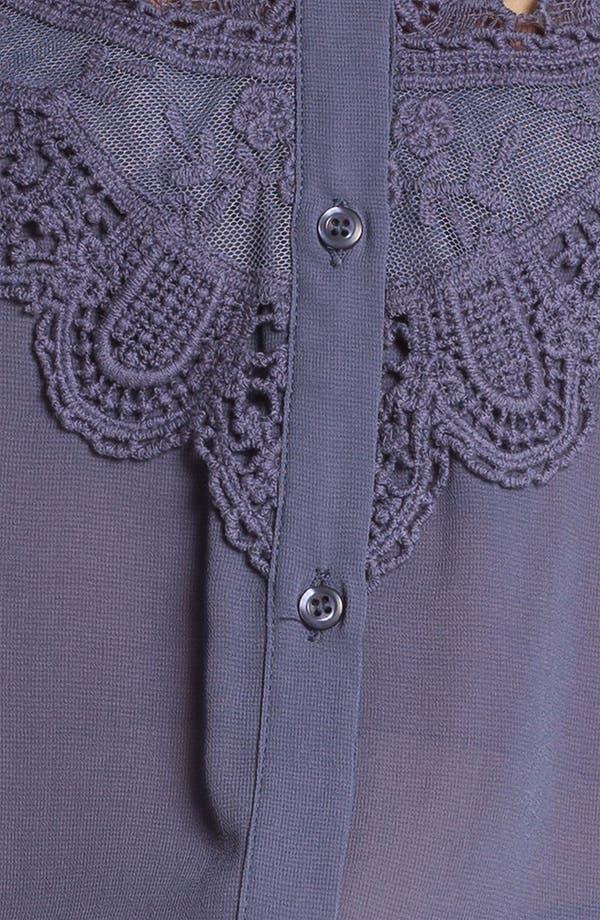 Alternate Image 3  - Chloe K Lace Bib Sleeveless Shirt (Juniors)