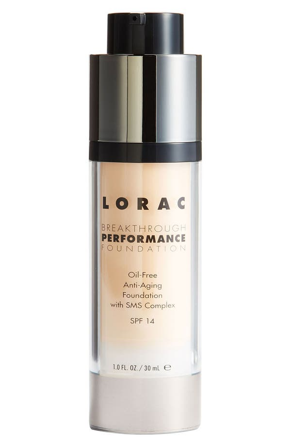 Alternate Image 1 Selected - LORAC 'Breakthrough Performance' Foundation SPF 14