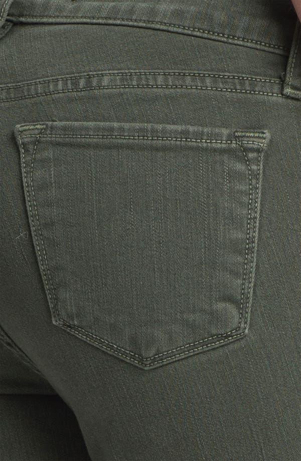 Alternate Image 3  - J Brand Quilted Panel Skinny Moto Jeans (Vin Mantis)