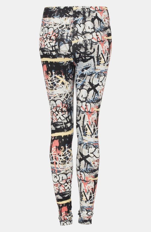 Alternate Image 2  - Topshop 'Graffiti Scuba' Leggings