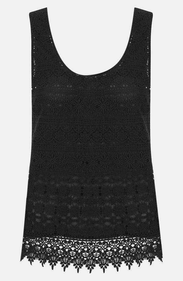 Alternate Image 1 Selected - Topshop Daisy Crochet Tank