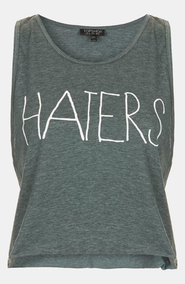 Main Image - Topshop 'Haters' Crop Tank