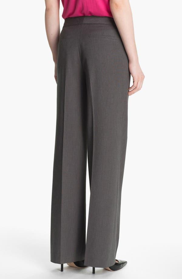 Alternate Image 2  - Halogen® 'Taylor' Mini Check Curvy Fit Pants (Petite)